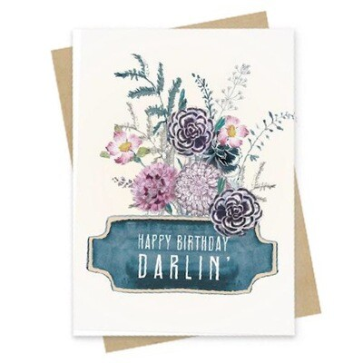 Happy Birthday Darlin' Small Greeting Card