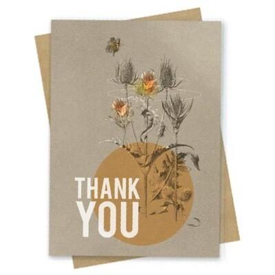 Daffodil Thanks Small Greeting Card