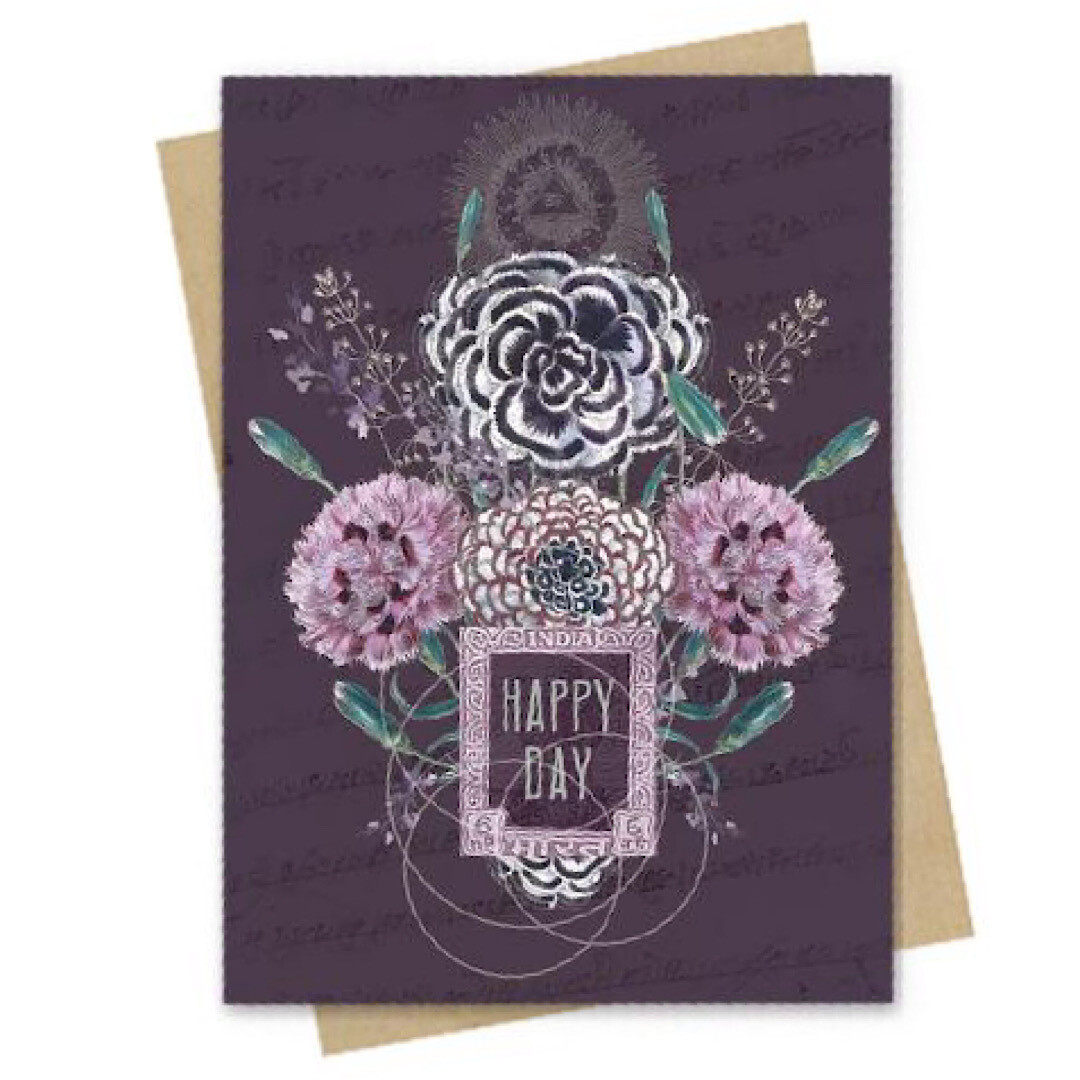 Happy Flowers Small Greeting Card - PAC162