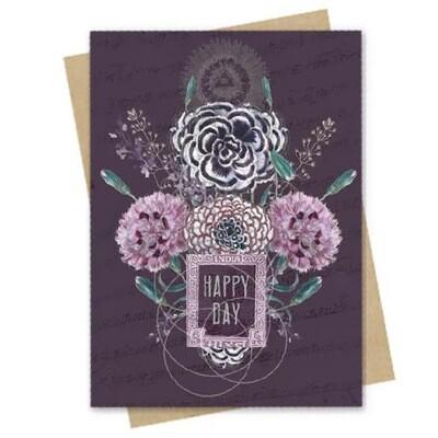 Happy Flowers Birthday Small Greeting Card