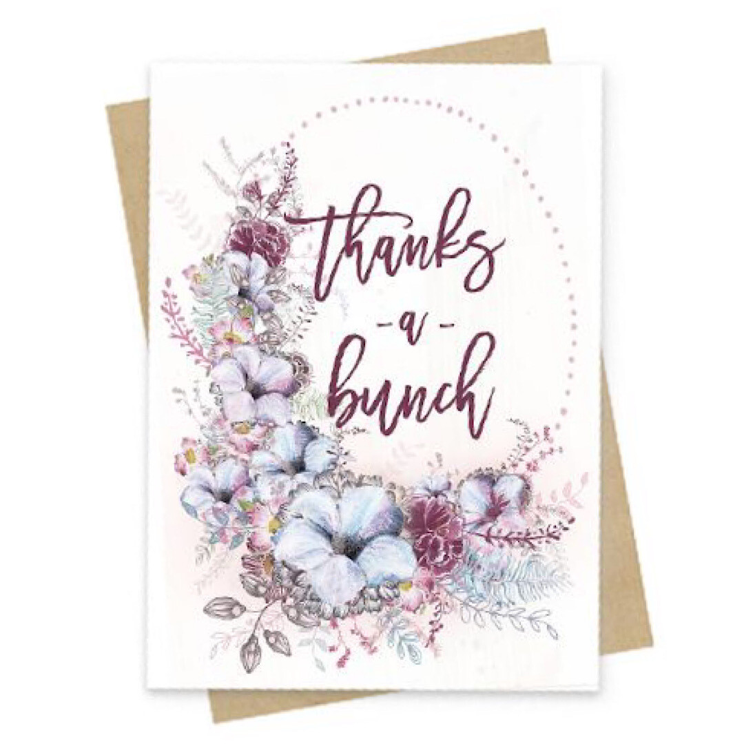 Thanks A Bunch Small Greeting Card