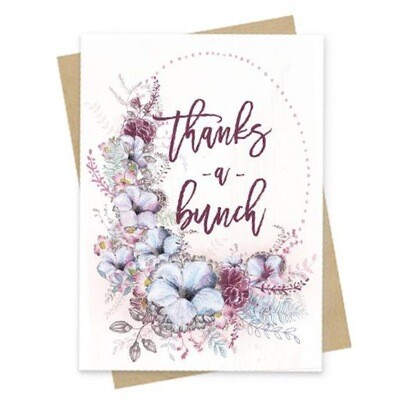 Thanks A Bunch Small Greeting Card - PAC149