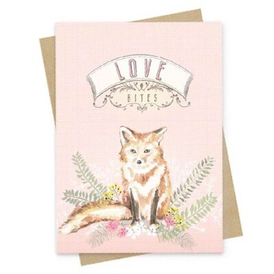 Love Bites Small Greeting Card - PAC134