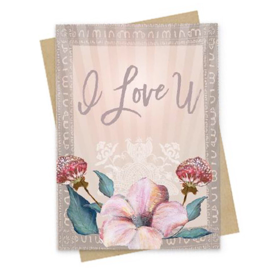 Love U Small Greeting Card - PAC138