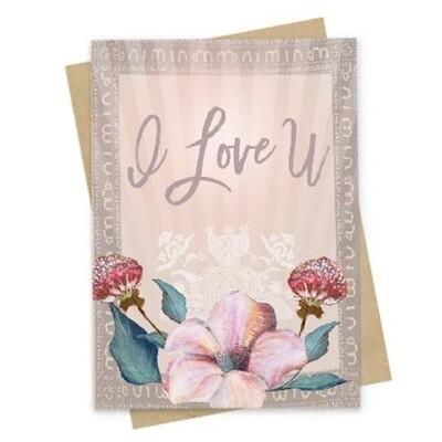 Love U Small Greeting Card - PAC138