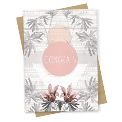Texture Congratulations Small Greeting Card - PAC177