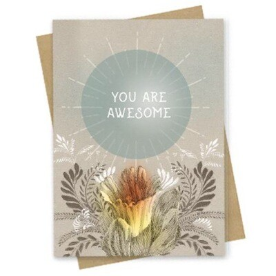 UR Awesome Small Greeting Card