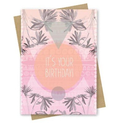 It's Your Day Birthday Small Greeting Card