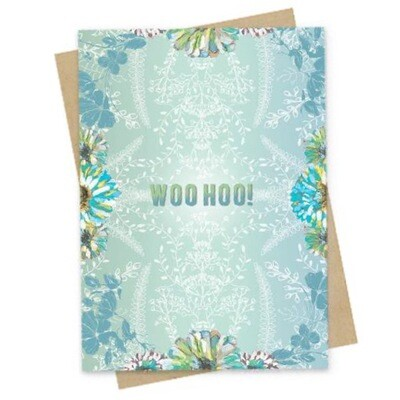 Woo Hoo Small Greeting Card