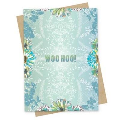 Woo Hoo Small Greeting Card - PAC128