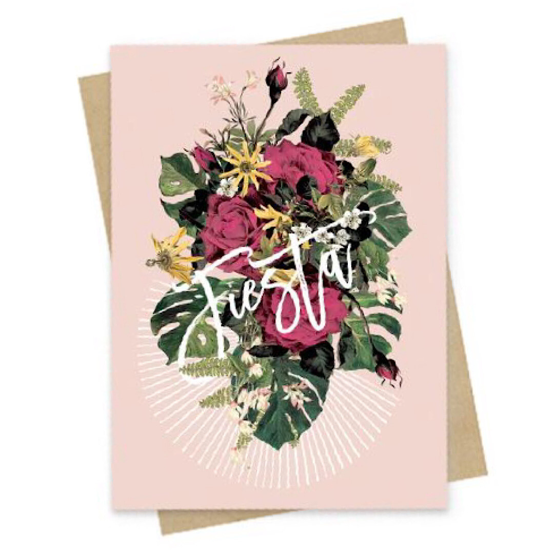 Floral Fiesta Small Greeting Card - PAC153