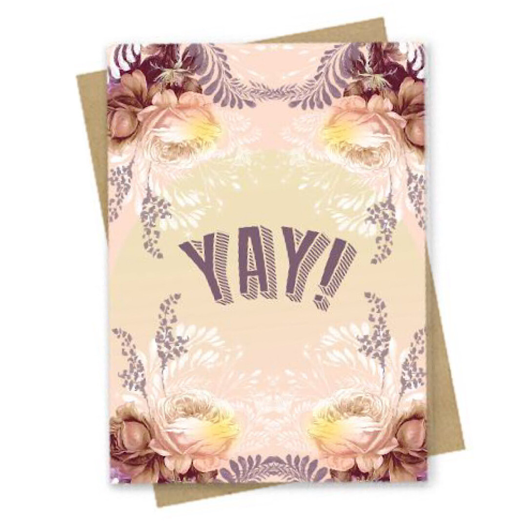 Yay! Small Greeting Card - PAC173