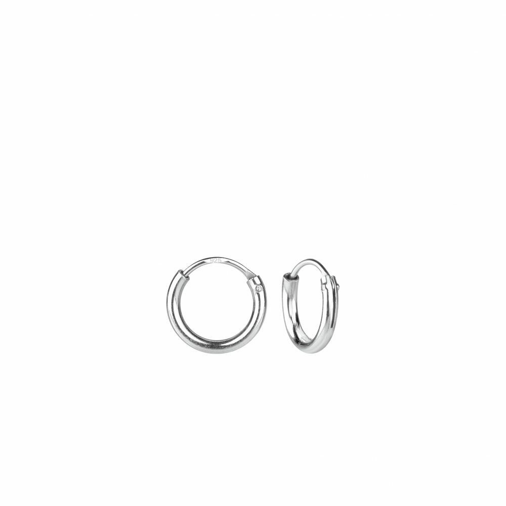 Sterling Silver 8mm Thin Endless Hoops