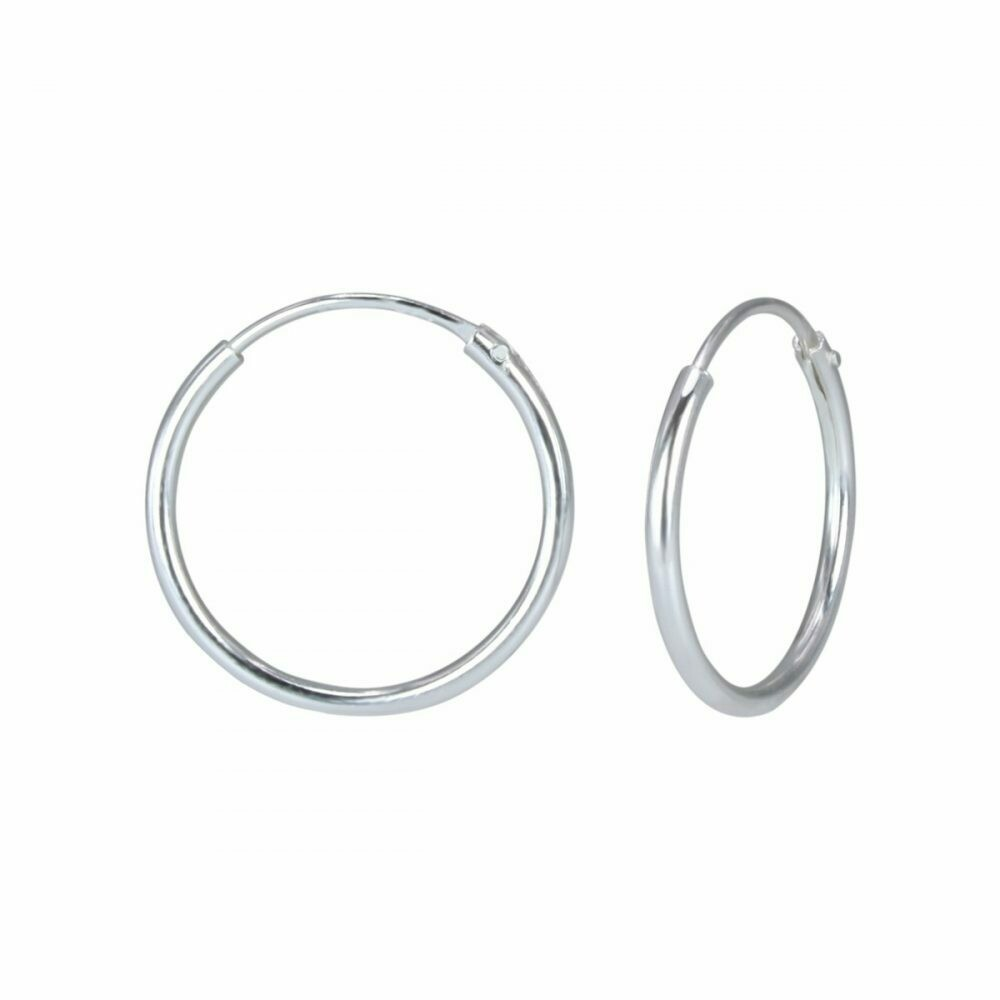 Sterling Silver 16mm Thin Endless Hoops