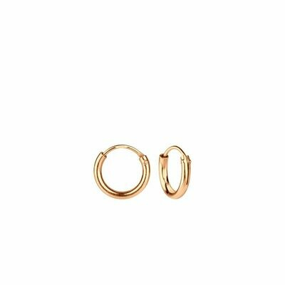Rose Gold Dipped Sterling Silver 8mm Thin Endless Hoops
