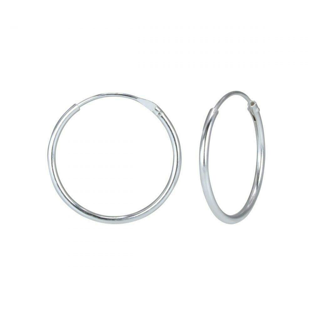 Sterling Silver 18mm Thin Endless Hoops