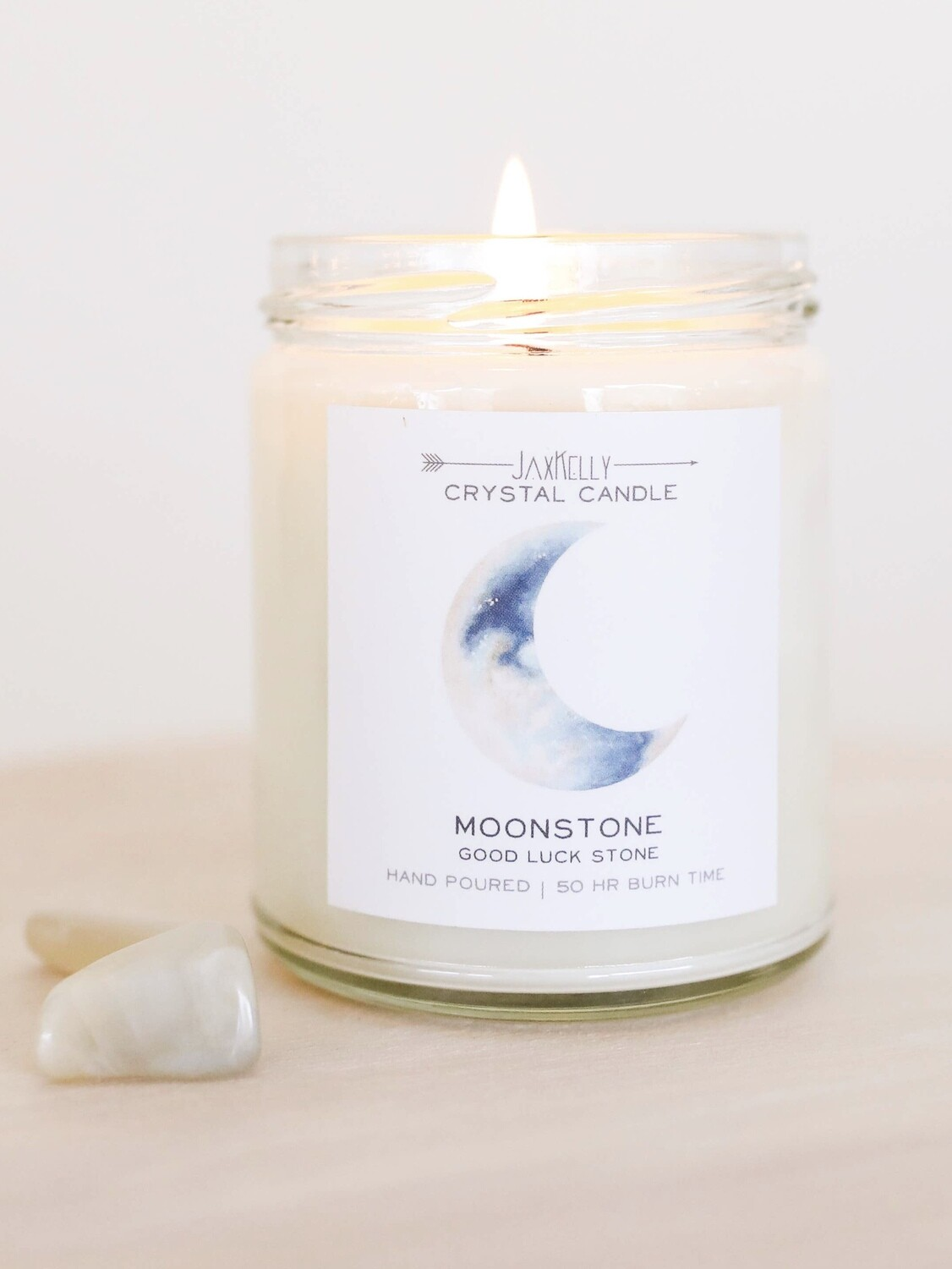 Crystal Candle - Moonstone