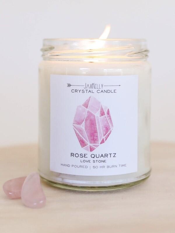 Crystal Candle - Rose Quartz