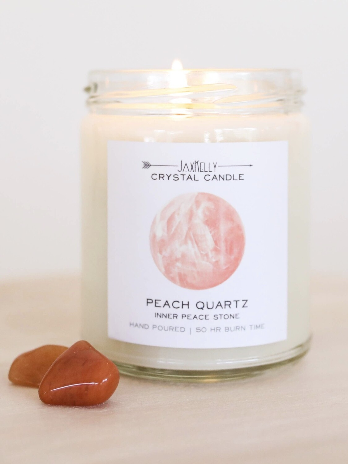 Crystal Candle - Peach Quartz