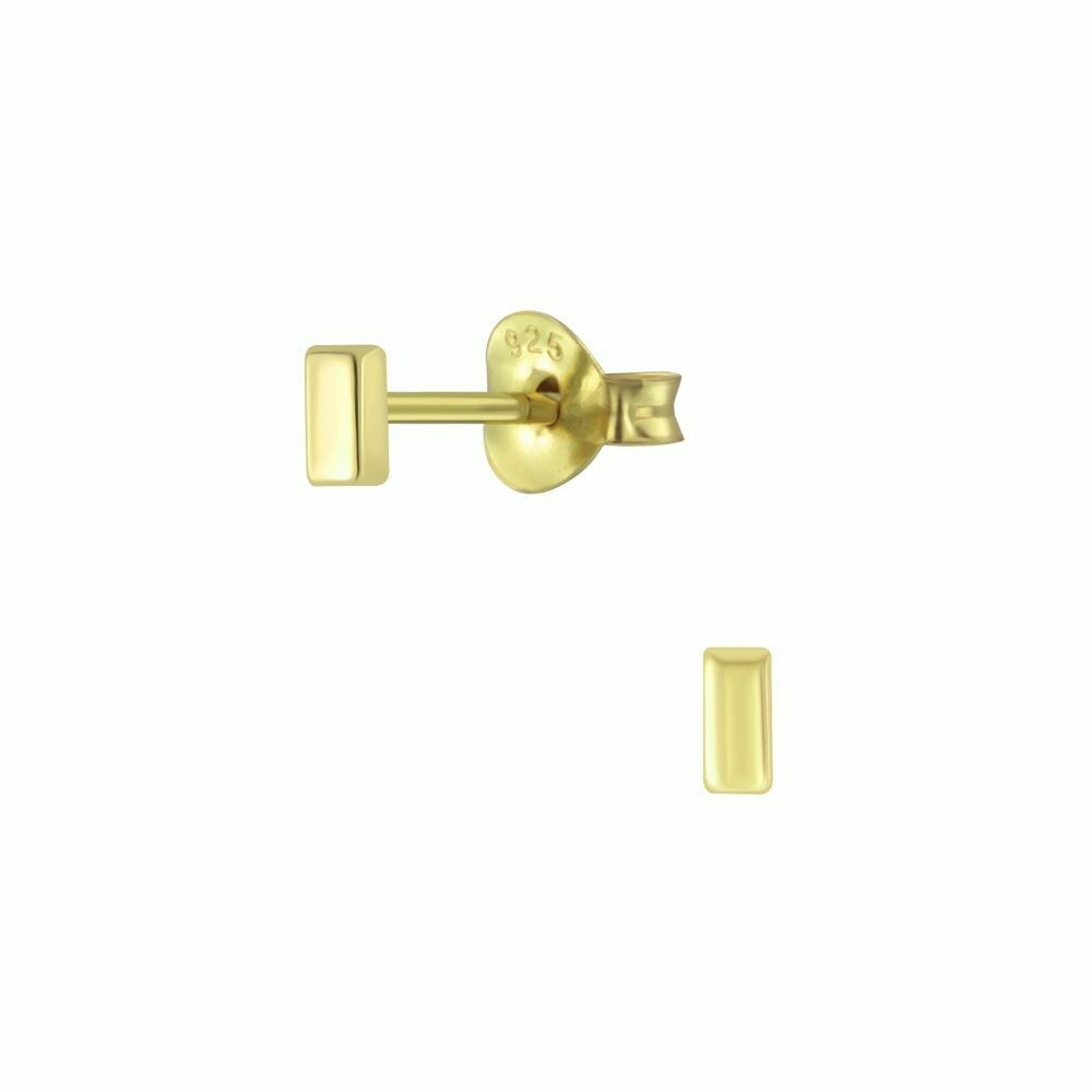 Tiny Bar Posts - Gold Plated Sterling Silver - P60-21