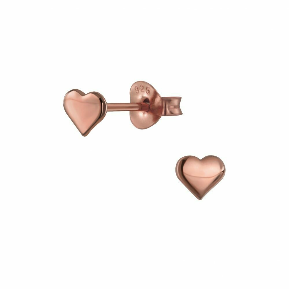 Heart Posts - Rose Gold Plated Sterling Silver - P66-1