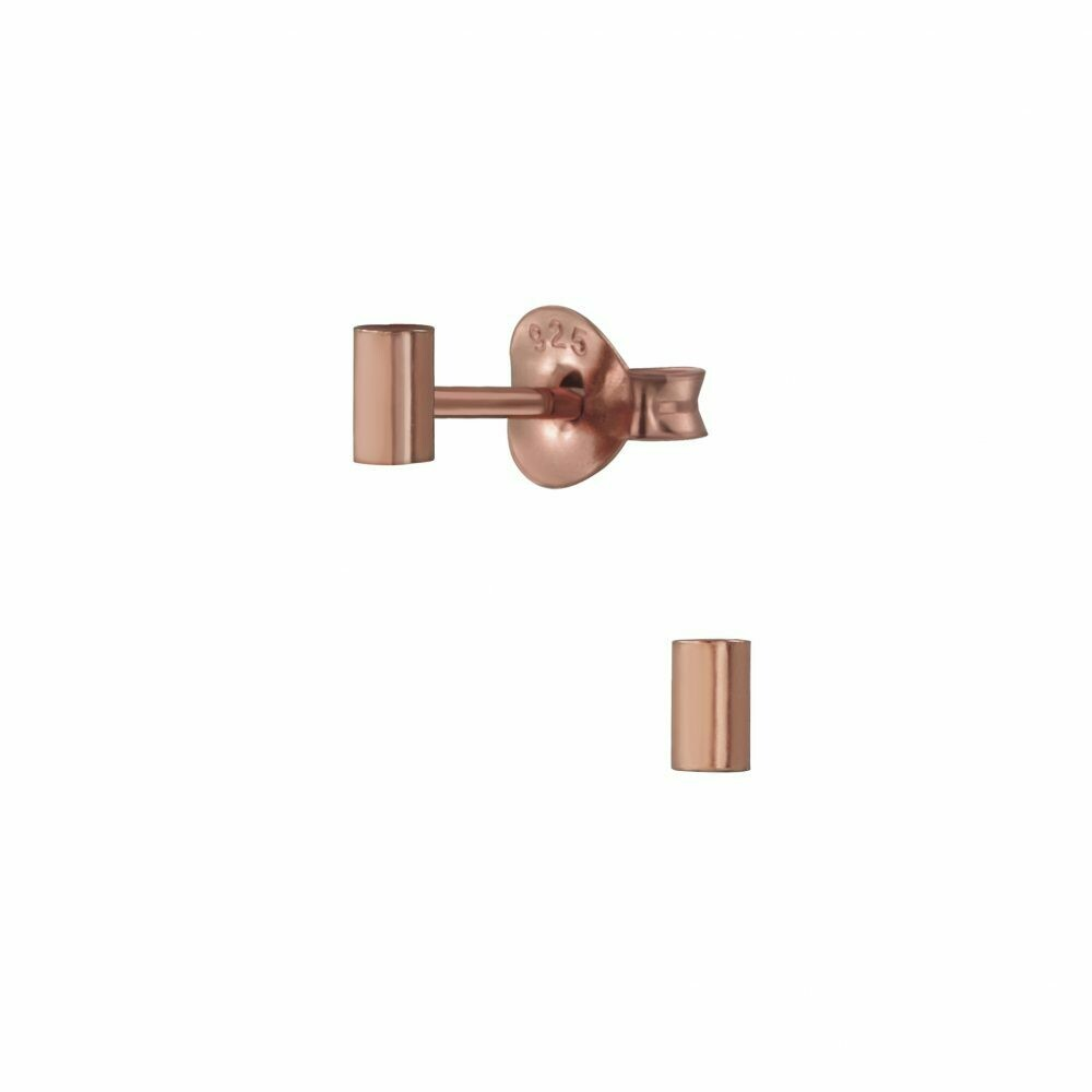 Mini Bar Posts - Rose Gold Plated Sterling Silver - P66-4