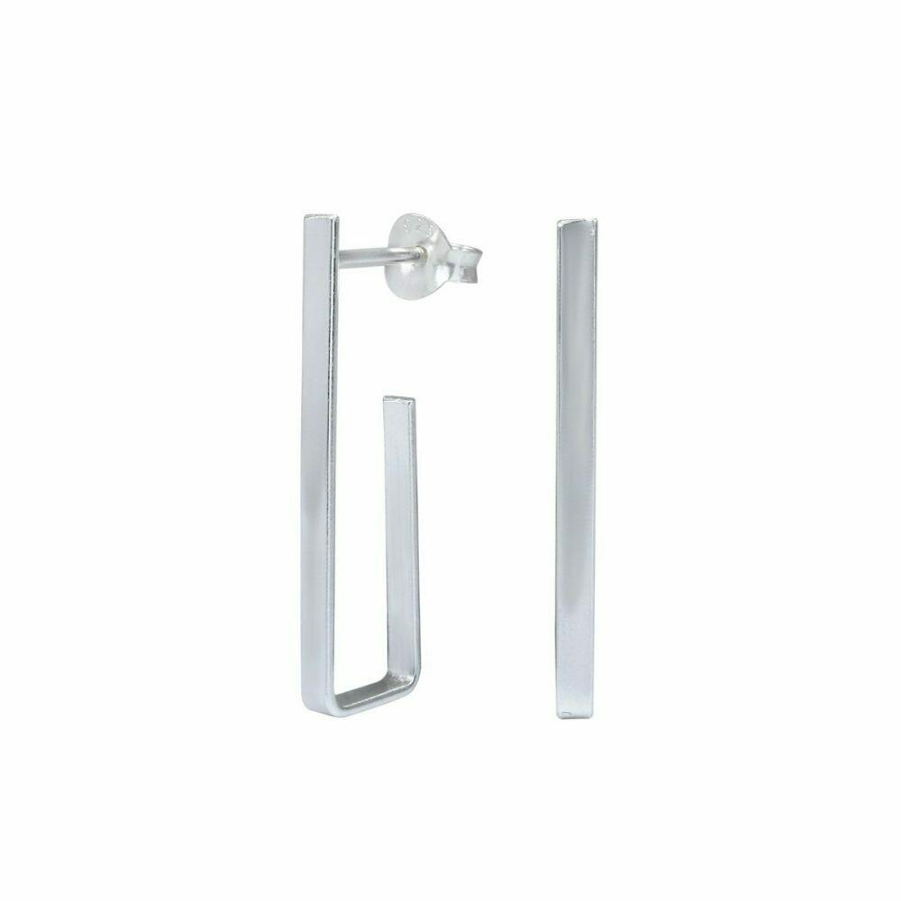 Sterling Silver Geometric Post Earring - H60-1