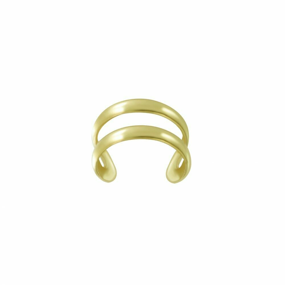 14k Gold-Dipped Double Line Ear Cuff - H60-12