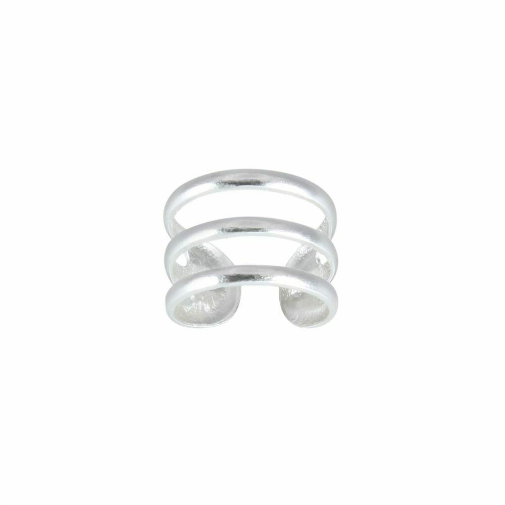 Sterling Silver Triple Line Ear Cuff - H60-14