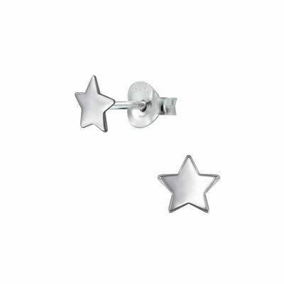 Sterling Silver 5mm Star Posts - P70-10
