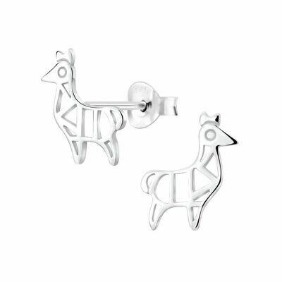 Sterling Silver Geometric Llama Posts - P70-17