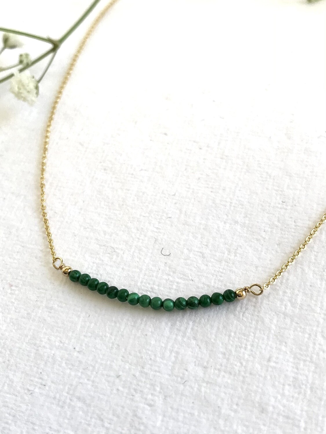 Malachite Artemis Necklace - GDFDSN12