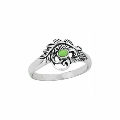 Sterling Silver Floral Gaspeite Ring - RTM3171