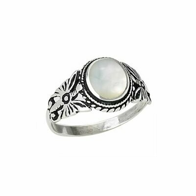 Sterling Silver Mother of Pearl Ring - RTM2690