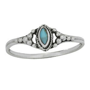Sterling Silver Petite Marquise TQ Ring - RTM3893