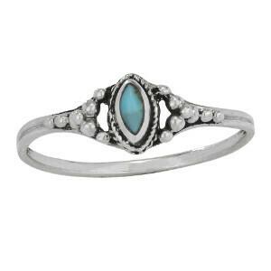 Sterling Silver Petite Marquis TQ Ring - RTM3893
