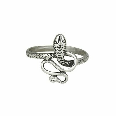 Sterling Silver Coiled Snake Ring - RTM2727