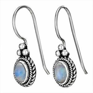 Sterling SIlver Rainbow Moonstone Earrings - ETM3609