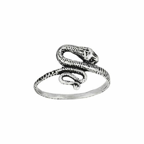 Sterling Silver Poised Snake Ring - RTM4194
