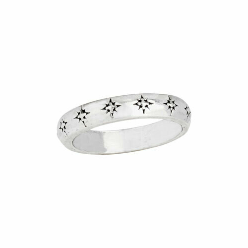 Sterling Silver Shining Stars Band - RTM4154