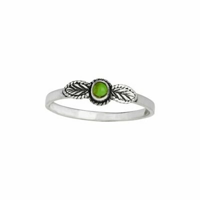 Sterling Silver Tiny Floral Gaspeite RIng -RTM4139