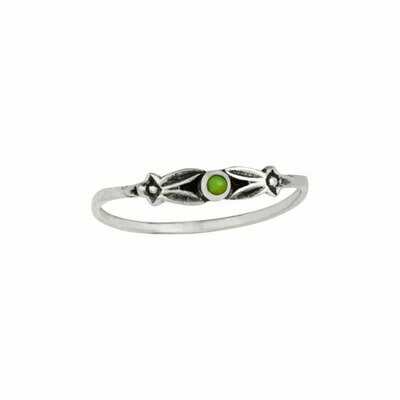 Sterling Silver Petite Gaspeite Ring - RTM4135