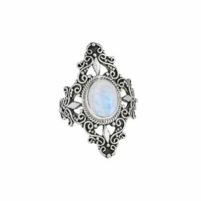 Sterling Silver Rainbow Moonstone Ring - RTM4119