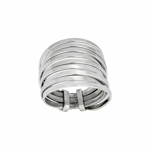 Sterling Silver Wide Coil Wrap RIng - RTM4074