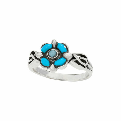 Sterling Silver Inlaid Turquoise Ring - RTM4339