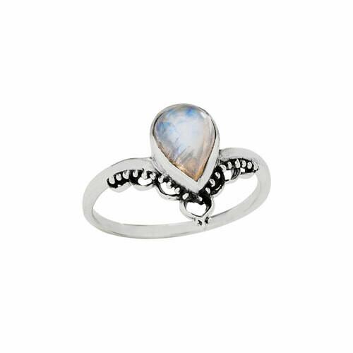 Sterling Silver Rainbow Moonstone Ring - RTM4348