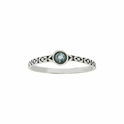 Sterling Silver Apatite Stacking Ring - RTM4316