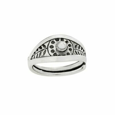 Sterling SIlver Pearl Hilltribe Ring - RTM4297