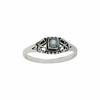Sterling Silver Labradorite Square Ring - RTM4309
