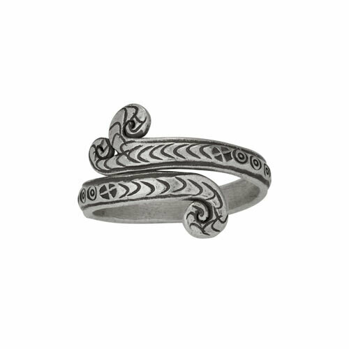Hill Tribe Silver Scroll Ring - RTM4255